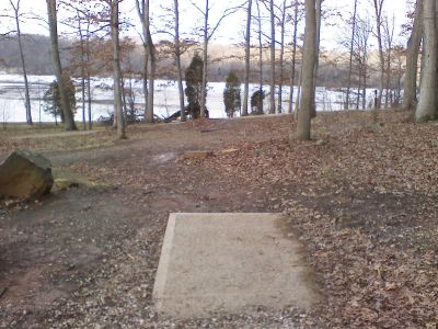 Gifford Pinchot State Park, Boulder Woods, Hole 7 Tee pad