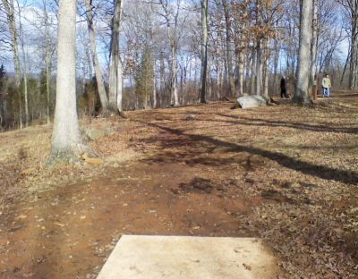 Gifford Pinchot State Park, Boulder Woods, Hole 8 Tee pad