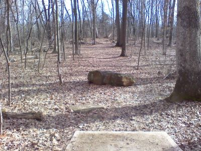 Gifford Pinchot State Park, Boulder Woods, Hole 13 Tee pad