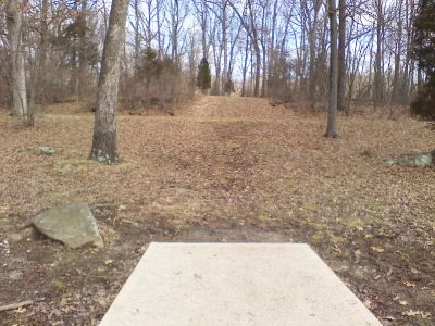 Gifford Pinchot State Park, Boulder Woods, Hole 4 Tee pad