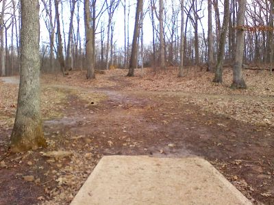 Gifford Pinchot State Park, Boulder Woods, Hole 10 Tee pad