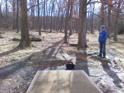 Gifford Pinchot State Park, Boulder Woods, Hole 2 Tee pad