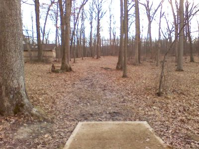 Gifford Pinchot State Park, Boulder Woods, Hole 16 Tee pad