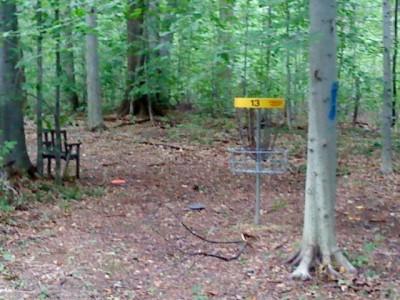 Mercer / Grove City KOA, Main course, Hole 13 Putt
