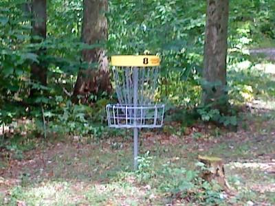 Mercer / Grove City KOA, Main course, Hole 8 Putt
