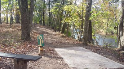 Tyler State Park, Main course, Hole 8 Tee pad