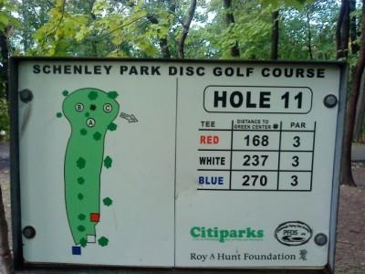 Schenley Park, Main course, Hole 11 Hole sign