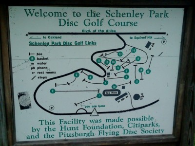 Schenley Park, Main course, Hole 1 Hole sign