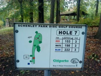 Schenley Park, Main course, Hole 7 Hole sign