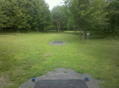 Moraine State Park, Main course, Hole 14 Tee pad