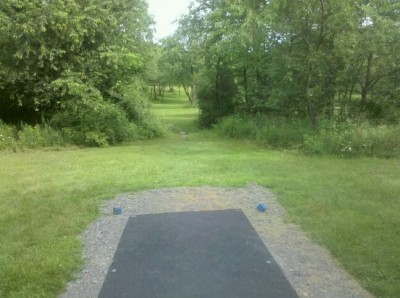 Moraine State Park, Main course, Hole 11 Tee pad