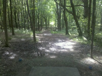 Moraine State Park, Main course, Hole 18 Tee pad