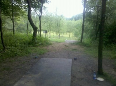 Moraine State Park, Main course, Hole 7 Tee pad