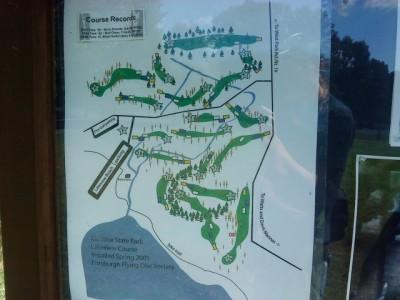 Moraine State Park, Main course, Hole 1 Hole sign