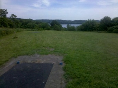 Moraine State Park, Main course, Hole 15 Tee pad