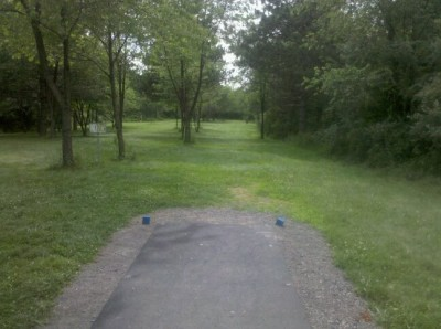 Moraine State Park, Main course, Hole 6 Tee pad