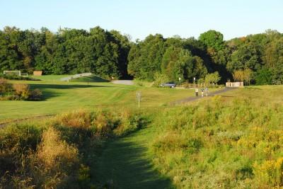 Circleville Park, Main course, Hole 3 Long approach