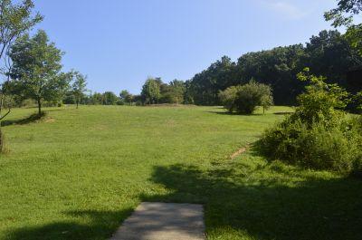 Deer Lakes Park, Main course, Hole 8 Long tee pad