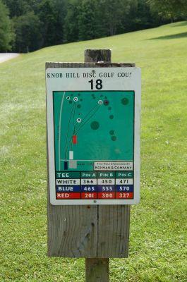 Knob Hill Park, Main course, Hole 18 Hole sign