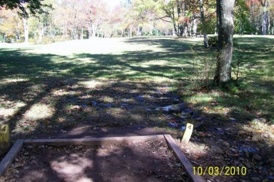 Hickory Run State Park, Main course, Hole 4 Tee pad