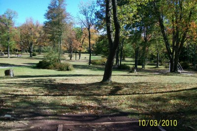 Hickory Run State Park, Main course, Hole 6 Tee pad