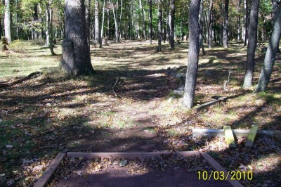Hickory Run State Park, Main course, Hole 10 Tee pad