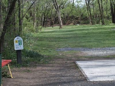 Jordan Creek Park, Main course, Hole 1 Tee pad