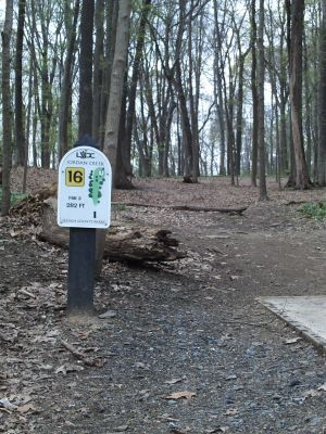 Jordan Creek Park, Main course, Hole 16 Tee pad