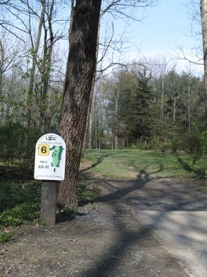 Jordan Creek Park, Main course, Hole 6 Tee pad