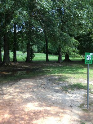 North Asheboro Park, Main course, Hole 12 Tee pad