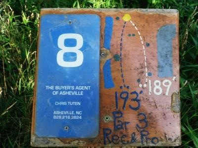 Black Mountain DGC, Main course, Hole 8 Hole sign