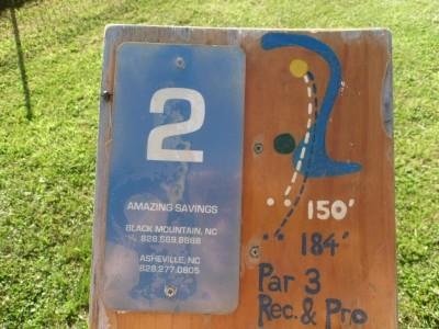 Black Mountain DGC, Main course, Hole 2 Hole sign