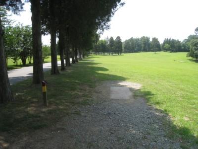 Cedarock Park, Cedarock, Hole 18 Middle tee pad