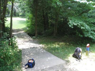 Cedarock Park, Cedarock, Hole 12 Long tee pad