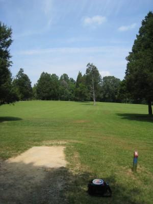 Cedarock Park, Cedarock, Hole 1 Long tee pad