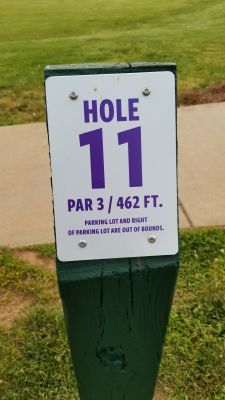 Catamount Links, Main course, Hole 11 Hole sign