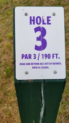 Catamount Links, Main course, Hole 3 Hole sign