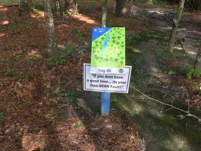 Northeast Creek Park, Main course, Hole 6 Hole sign
