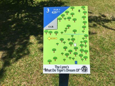 Northeast Creek Park, Main course, Hole 3 Hole sign