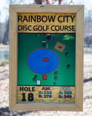 Rainbow City DGC, Main course, Hole 18 Hole sign