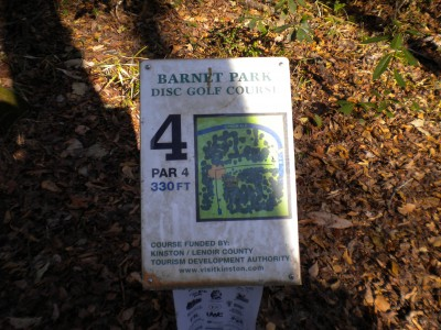 Barnet Park, Main course, Hole 4 Hole sign