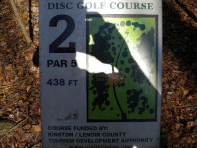 Barnet Park, Main course, Hole 2 Hole sign