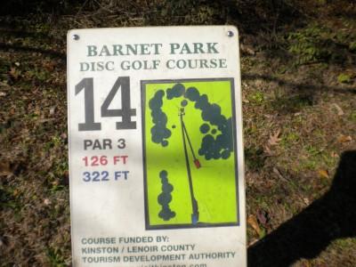 Barnet Park, Main course, Hole 14 Hole sign