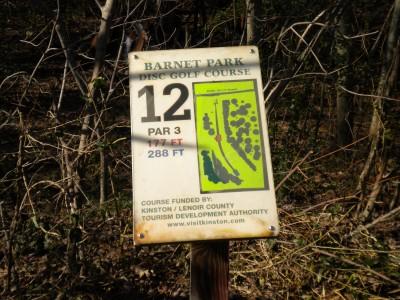 Barnet Park, Main course, Hole 12 Hole sign