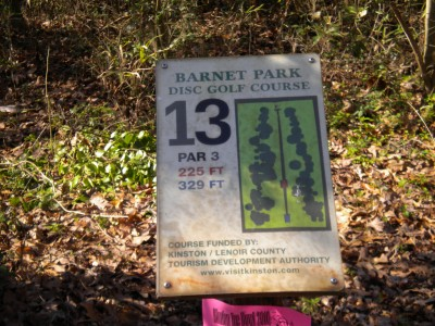 Barnet Park, Main course, Hole 13 Hole sign
