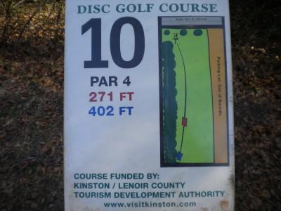 Barnet Park, Main course, Hole 10 Hole sign