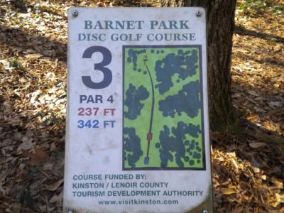 Barnet Park, Main course, Hole 3 Hole sign
