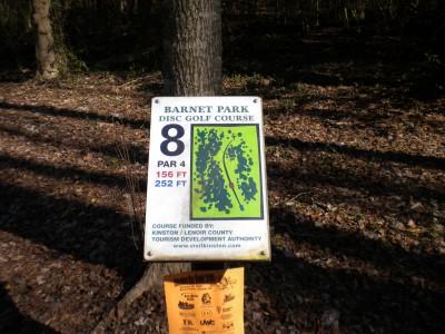 Barnet Park, Main course, Hole 8 Hole sign