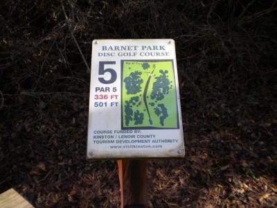 Barnet Park, Main course, Hole 5 Hole sign