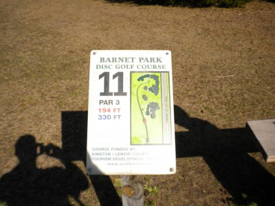 Barnet Park, Main course, Hole 11 Hole sign